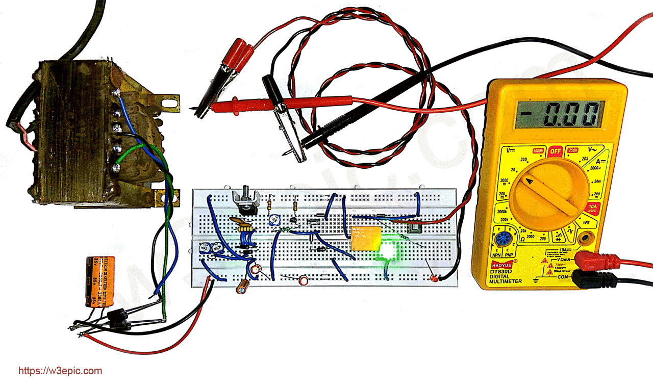 DIY Universal Battery Charger Circuit with Variable Auto Cut-off Voltage